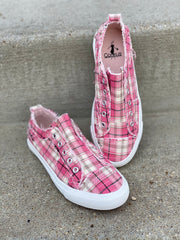 Pink Plaid Corky's Sneaker