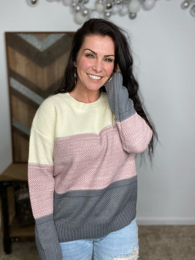 Lavender Stripes Sweater