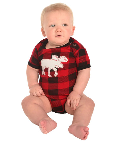PREORDER Moose Plaid Family- Infant Onesie
