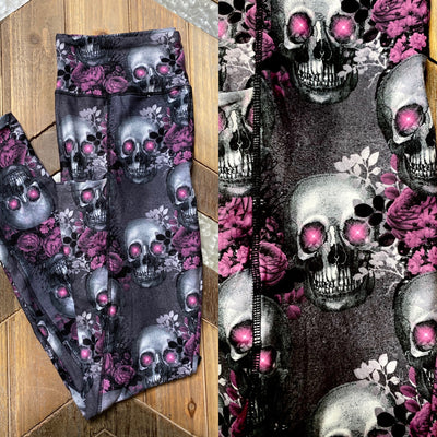 Purple/Black Skull Leggings