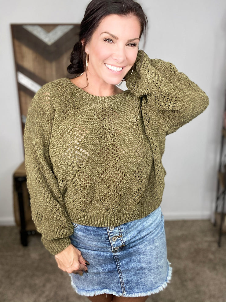 Breezy Night Sweater- Olive