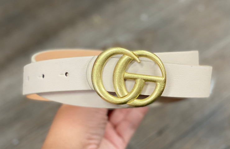 Inspired GG Belt- Taupe
