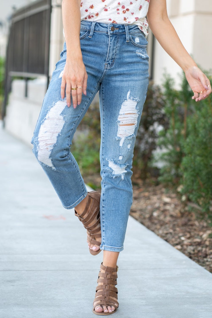 The Tonya- Judy Blue Extra Destroyed Relaxed Fit