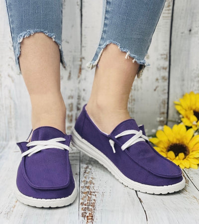 Gypsy Jazz PreOrder  - Purple Slip on Shoes