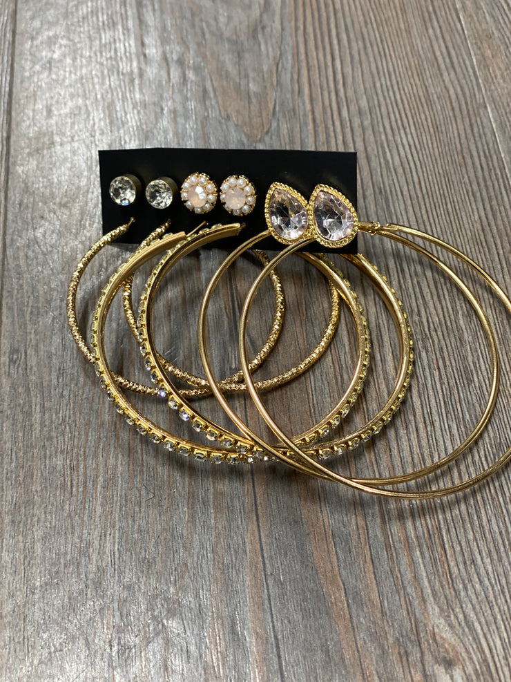 Style A: Studs & Hoops 6pk-