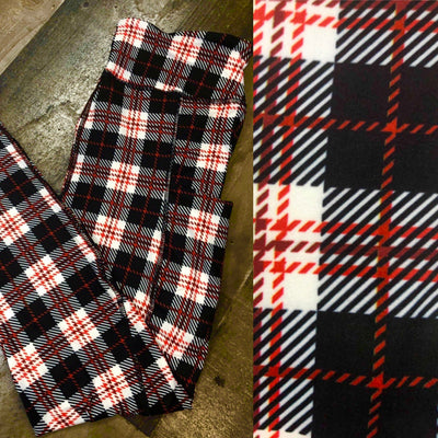 KIDS Red/White/Black Plaid Christmas Leggings
