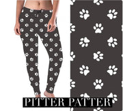 Cozy at Home Joggers- Charcoal Paw Print