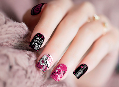 Nail Polish Stickers- XOXO