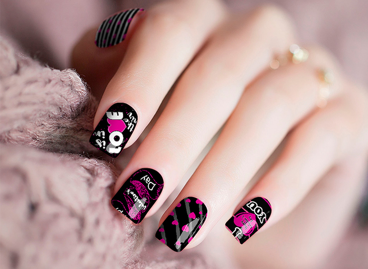 Nail Polish Stickers- Valentine's Day
