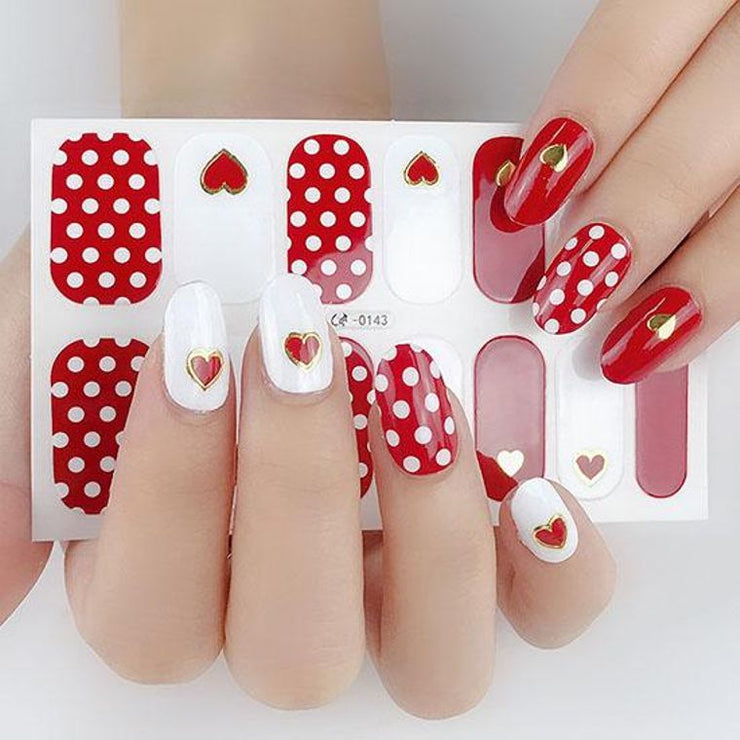 Nail Polish Stickers- Polka Dots of Love