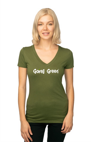 Womens Viscose Hemp Organic V Neck - Going Green