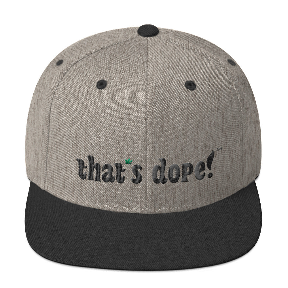 Snapback Hat - That's dope! - Weed