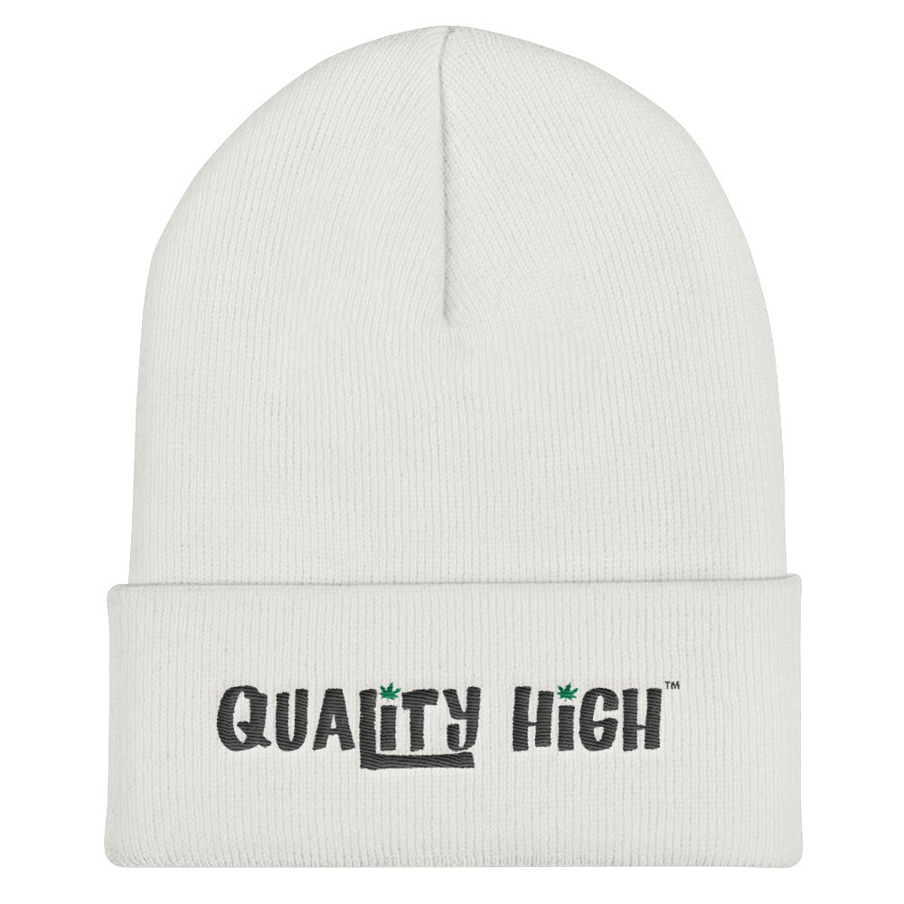 Cuffed Beanie - Quality High - Weed