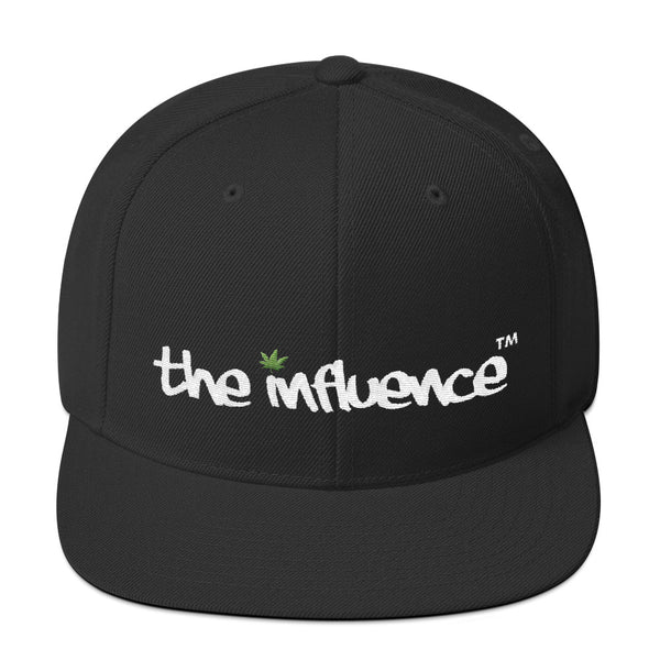 "Snapback Hat - be UNDER ""the influence - Weed"