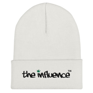 "Cuffed Beanie - be UNDER ""the influence"" - Weed"