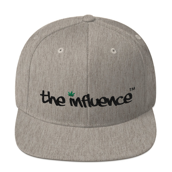 "Snapback Hat - be UNDER ""the influence"" - Weed"