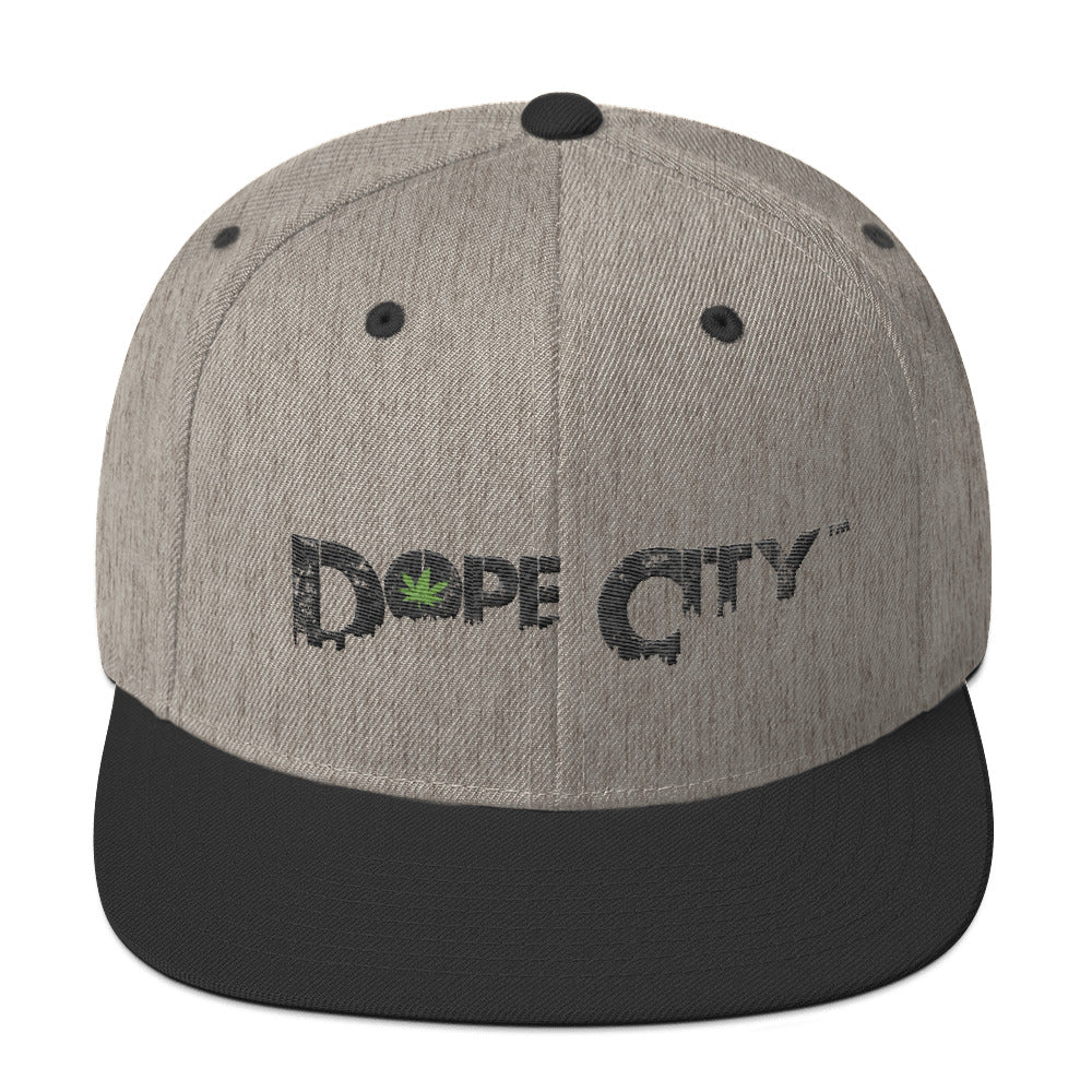 Snapback Hat - Dope City (DC) - Weed