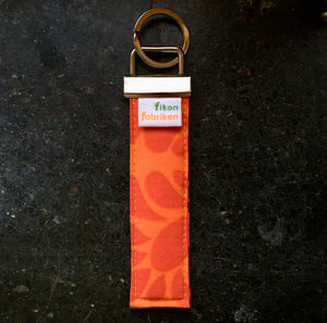 Key fob / Nyckelring - Orange Röd