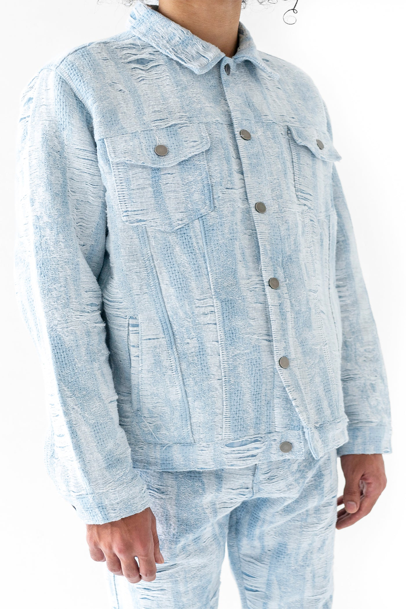 DISTRESSED STORM TRUCKER JACKET