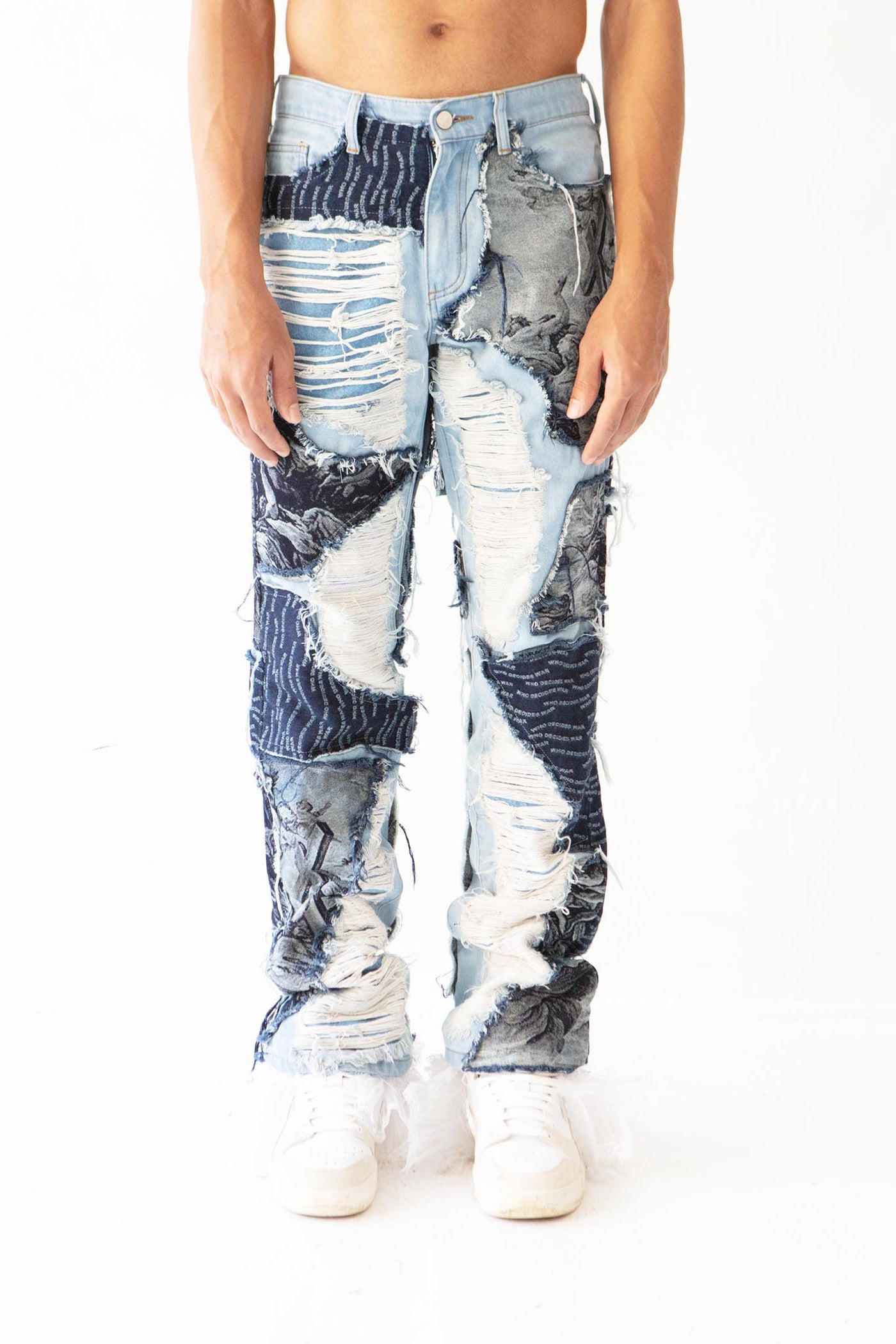 PATCHWORK SCRAP DENIM