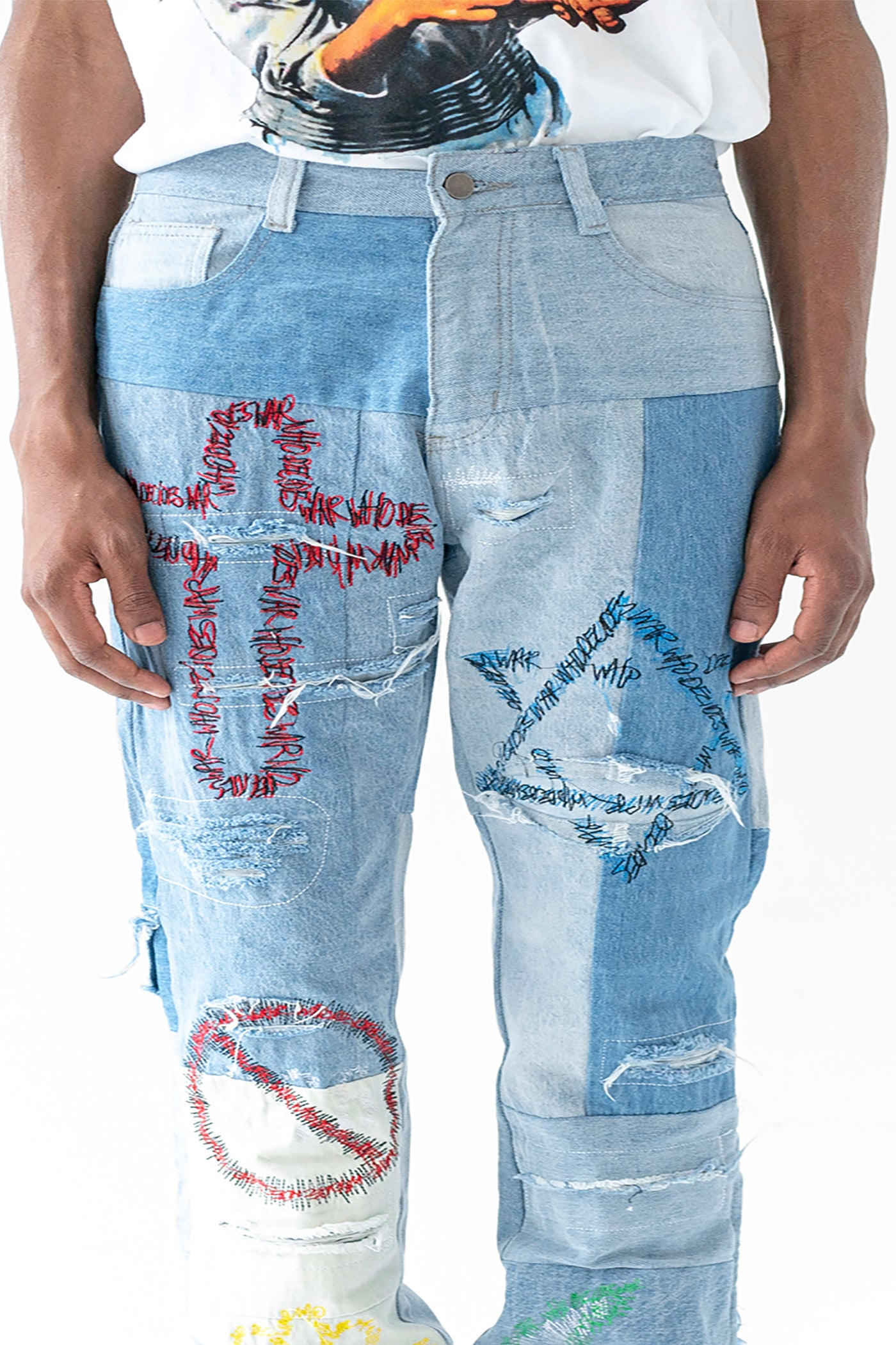 UNIFIED EMBROIDERED DENIM