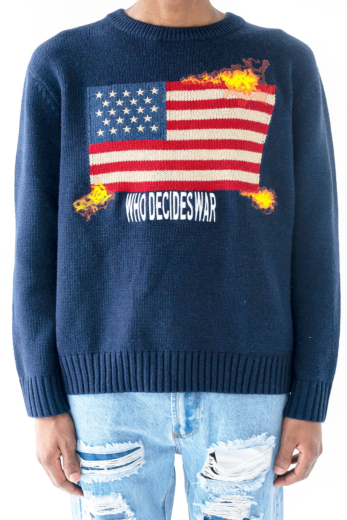 WHO DECIDES WAR CLASSIC KNIT SWEATER
