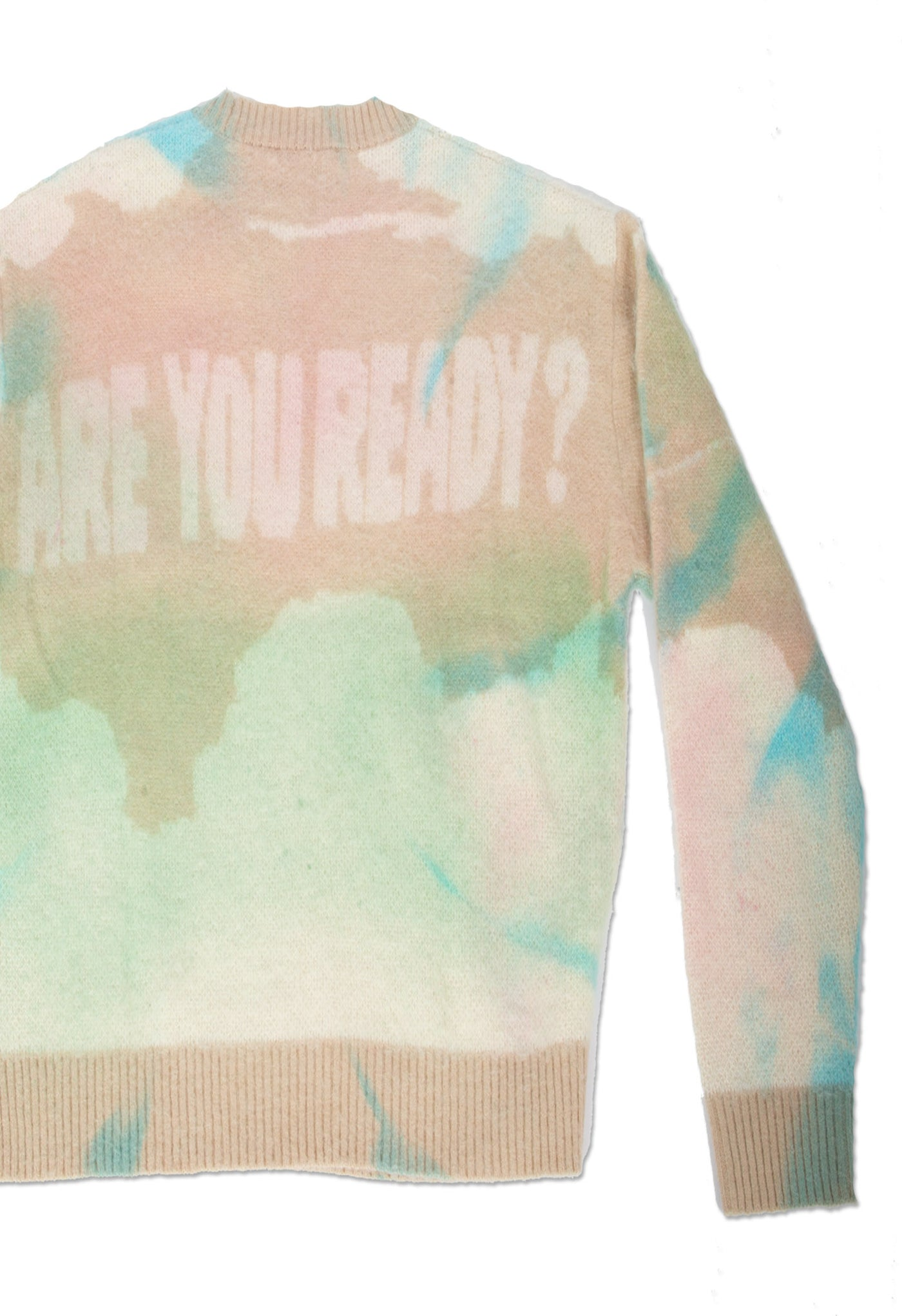 "FUSION DYED ""ARE YOU READY?"" PULLOVER"