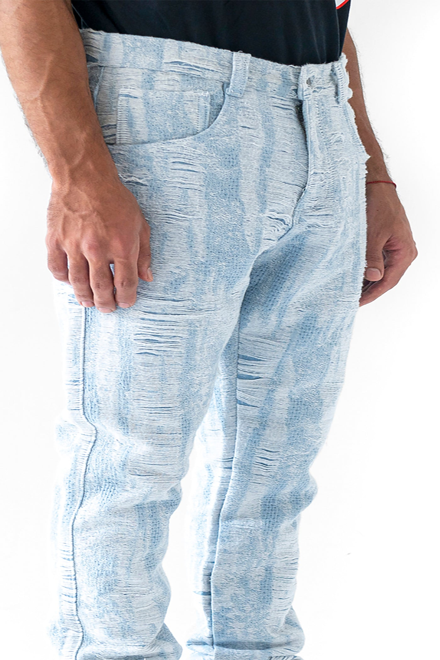 DISTRESSED STORM DENIM PANT