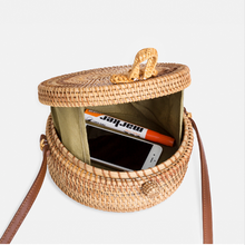 Dream Box Hand-Woven Rattan Crossbody Bag