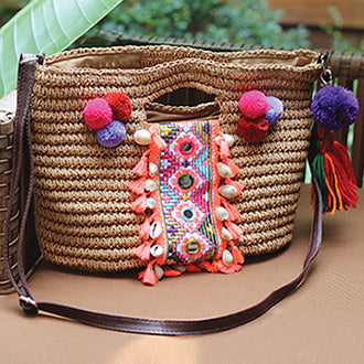 Ethnic Woven Shoulder Bag