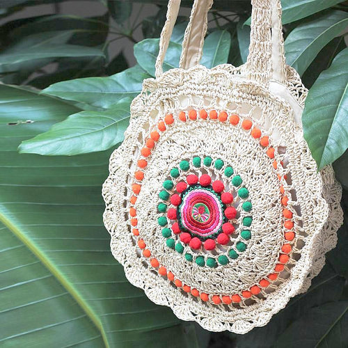 Boho Sweet Woven Shoulder Bag