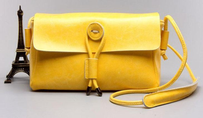 Vintage Style Crossbody Bags-Yellow