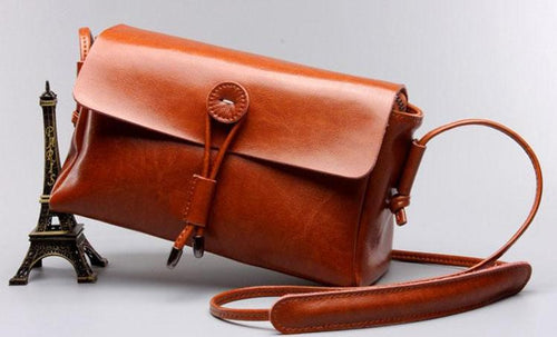 Vintage Style Crossbody Bags-Brown