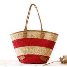 Bold Stripe Summer Beach Bag-Large Capacity 3 Colors