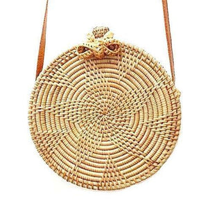 Sunflower Rattan Crossbody Bag