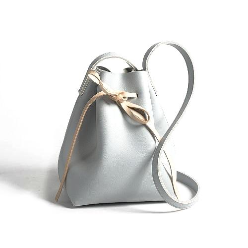 Pudding Bucket Bag-Gray