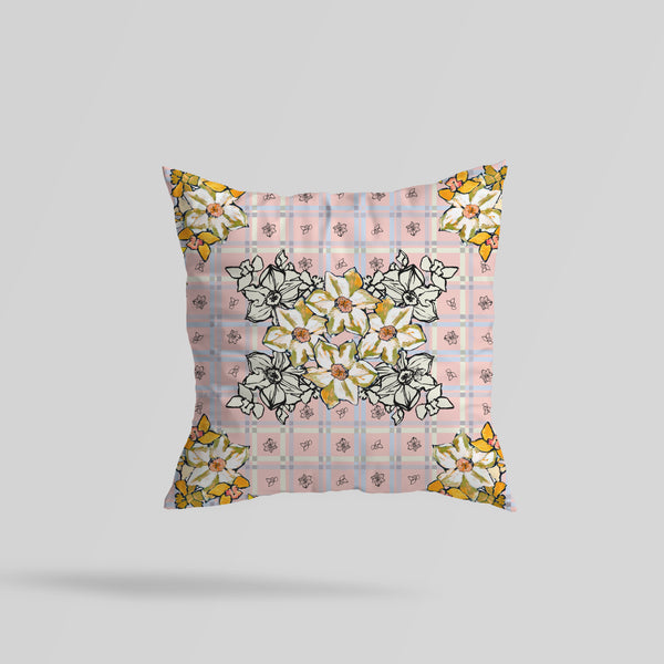 Daffodil Velvet Cushion