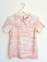 Tie-Dye Collar Top in Terracotta