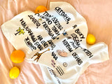 The Giraffe Poem Tea Towel Pre-Order