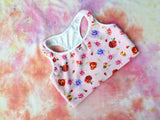 Rose Heart Sports Bra