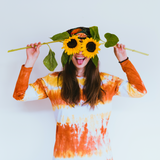 Tie-dye Skater Long Sleeve in Rust