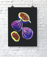 Figs in Pastels Artwork. Made to Order