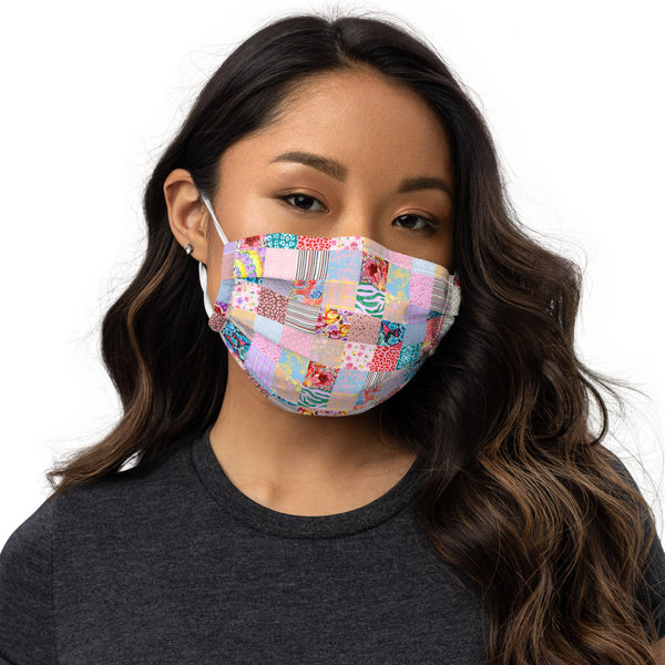 Patchwork Print Premium Face Mask