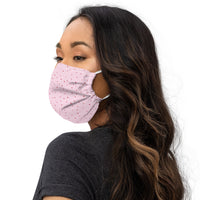 Love Heart Print Face Mask in Blush