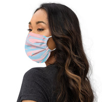Trippy Stripe Face Mask in Blue