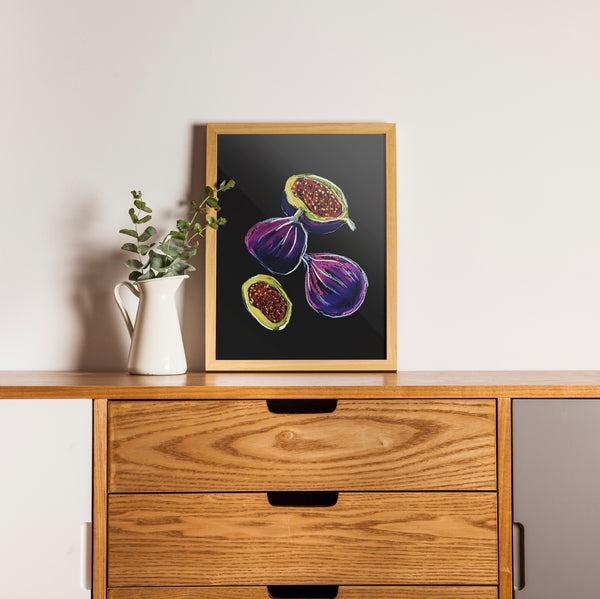Figs in Pastels Artwork. A4 Poster