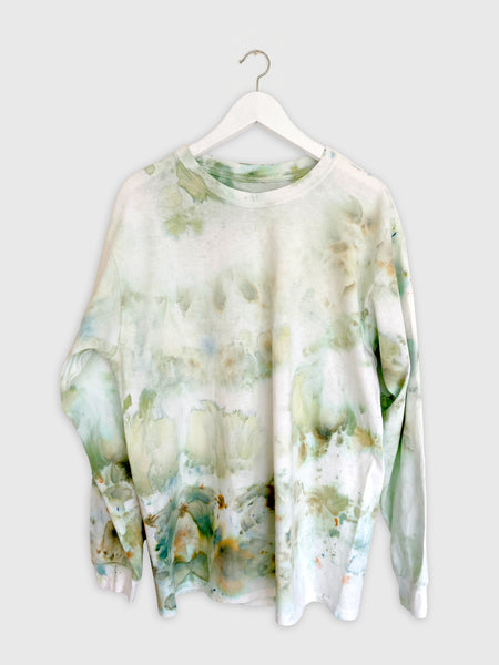 Tie-dye Long Sleeve Top in Sage Tones