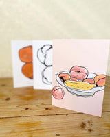 Feelin' peachy greeting cards. Restock