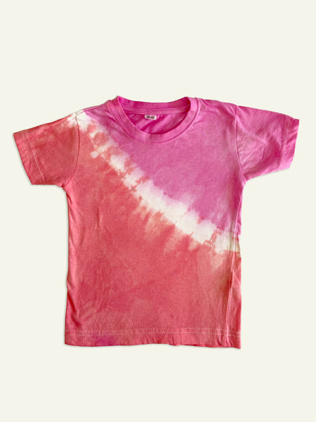 Tie-Dye Toddler Top in Fuchsia Pink