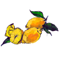 Painted Lemon Artwork. Made to Order